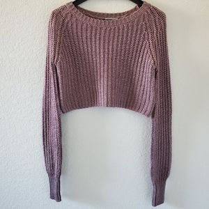 UO Kimchi Blue wool blend cable knit crop sweater
